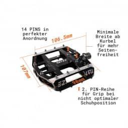 Tatze Pedal MC-AIR Flatpedal