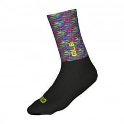ALE Merino Logo Socken multicolor-black L