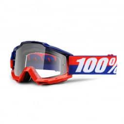 100% Brille Accuri goggle anti fog clear lens federal