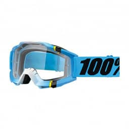 100% Brille Accuri goggle anti fog clear lens blue crystal