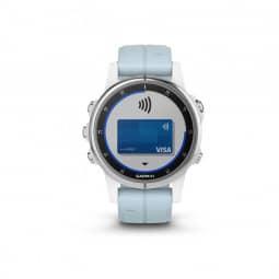 Garmin fenix 5S Plus weiß mit Seafoam Armband