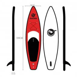 SeaOtter iSUP LK-320-15 red