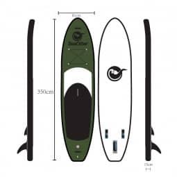 SeaOtter iSUP LK-350-15 military green