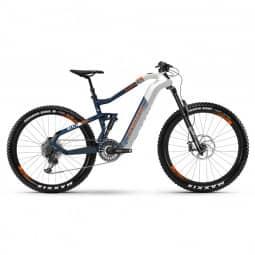 Haibike XDURO AllMtn 5.0 i630Wh 11-G NX HB Flyon 2019 weiß/blau/orange RH-XL