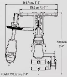 Tunturi Unterkörperstation - Beinstation PLATINUM