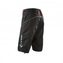 Cube Blackline Regenhose kurz black´n´red S