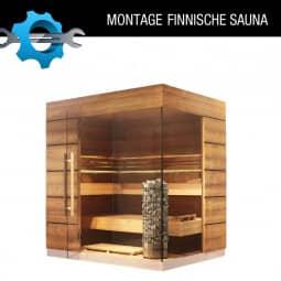 Vor Ort Montage einer Finnischen Sauna