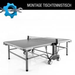 Vor Ort Montage einer Tischtennis-Platte