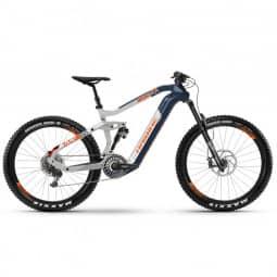 Haibike XDURO Nduro 5.0 i630Wh 11-G NX HB Flyon blau/weiß/orange 2020 RH-M