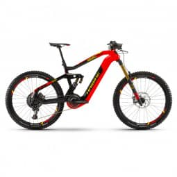 Haibike XDURO Nduro 10.0 i630Wh 8-G EX1 HB Flyon rot/carbon/gelb 2020 RH-L
