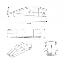 Vision E-Bike Akku für Yamaha PW/P Rahmen 624Wh 36V/17,1Ah