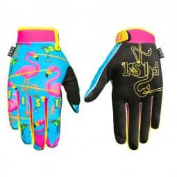 Fist Handschuhe Laser Flamingo, blau-schwarz XXS