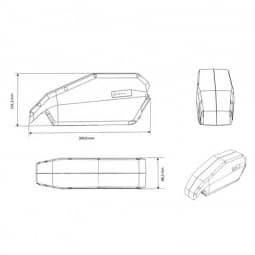 Vision E-Bike Akku für Bosch Active/Perf Rahmen 745Wh 36V/20,7Ah