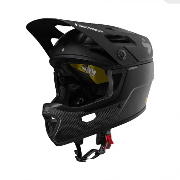 /Helme: Sweet Protection  Arbitrator MIPS Helmet Matte BlackNatural Carbon S-M