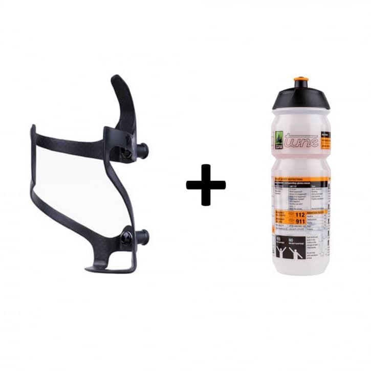 Fahrradteile/Trinkflaschen: Tune  Rechtsträger Flaschenhalter Set mit rechtsseitigem Eingriffinkl. Flasche 075l