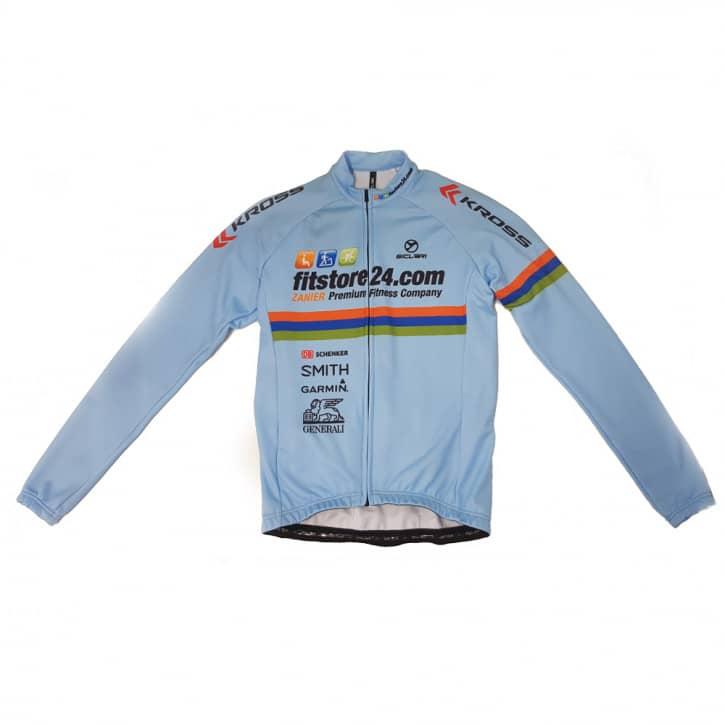 Bekleidung: Sicleri Fitstore24 Teamtrikot lang azzurro XXS