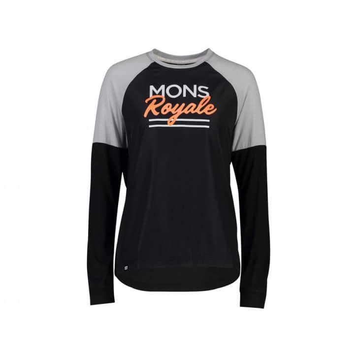 Bekleidung: Mons Royale  Tarn Freeride LS Wind Jersey Black Gray S