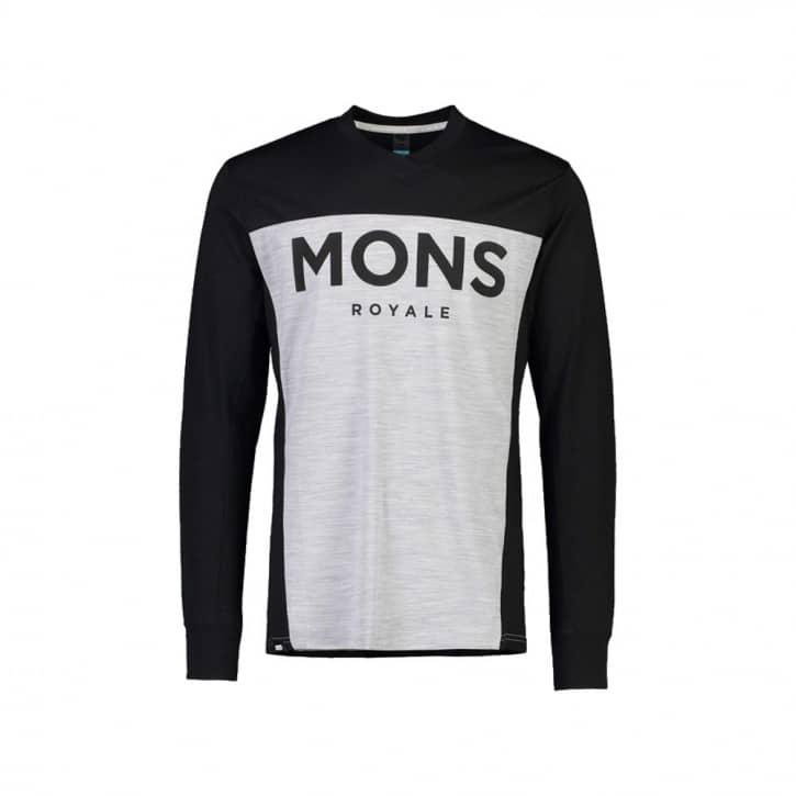 Bekleidung: Mons Royale  Mens Redwood Enduro VLS-Black  Grey Marl L