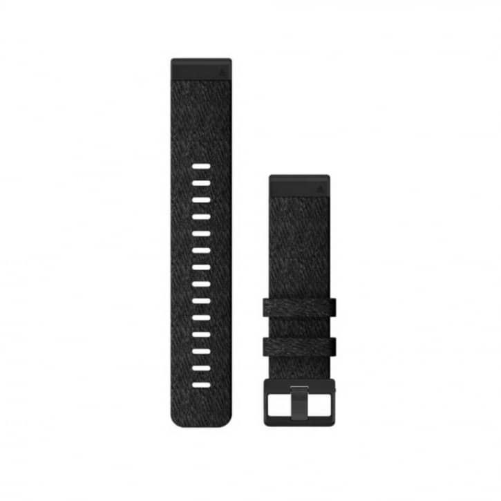 : Garmin  QUICKFIT-NYLON-ARMBAND 22mm SchwarzGesprenkelt Schnalle in Schiefer fuer FENIX 6