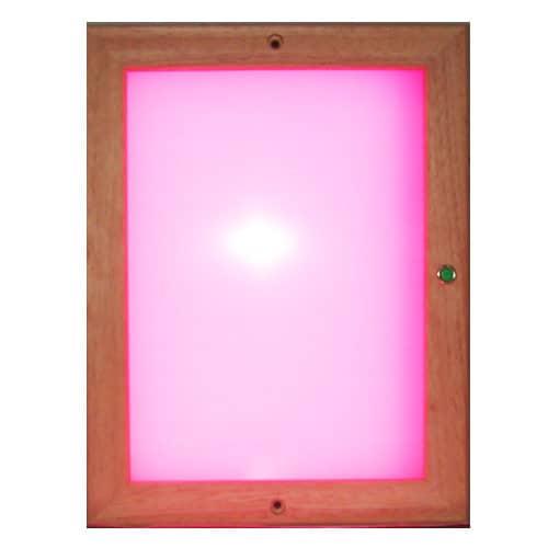 : ZANIER Infrarotkabinen Infra Farblichtpaneel LED 24x31 cm mit Fernbedienung