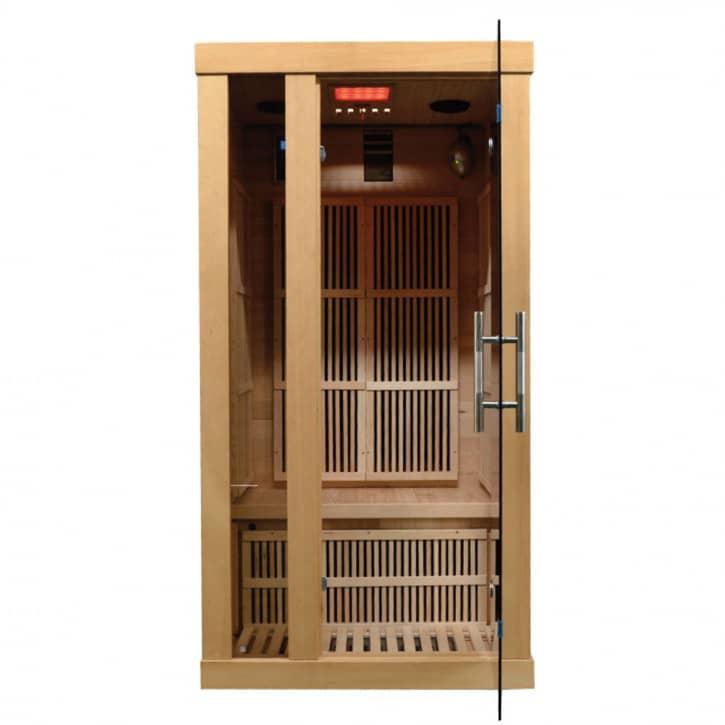 : ZANIER Infrarotkabinen Infrakabine ZANIER Gigatherm I Hemlock MP3 Display