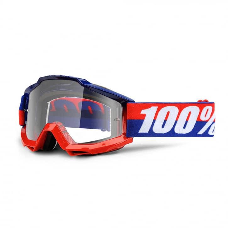 Bekleidung/Brillen: 100%  Brille Accuri goggle anti fog clear lens federal