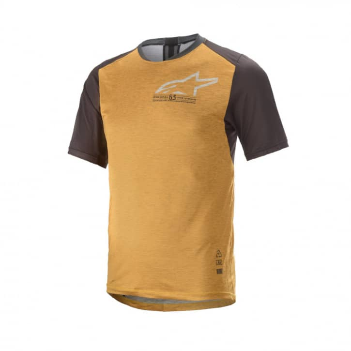 Bekleidung: Alpinestars  6.0 V2 SS Jersey Tangerine Black XL