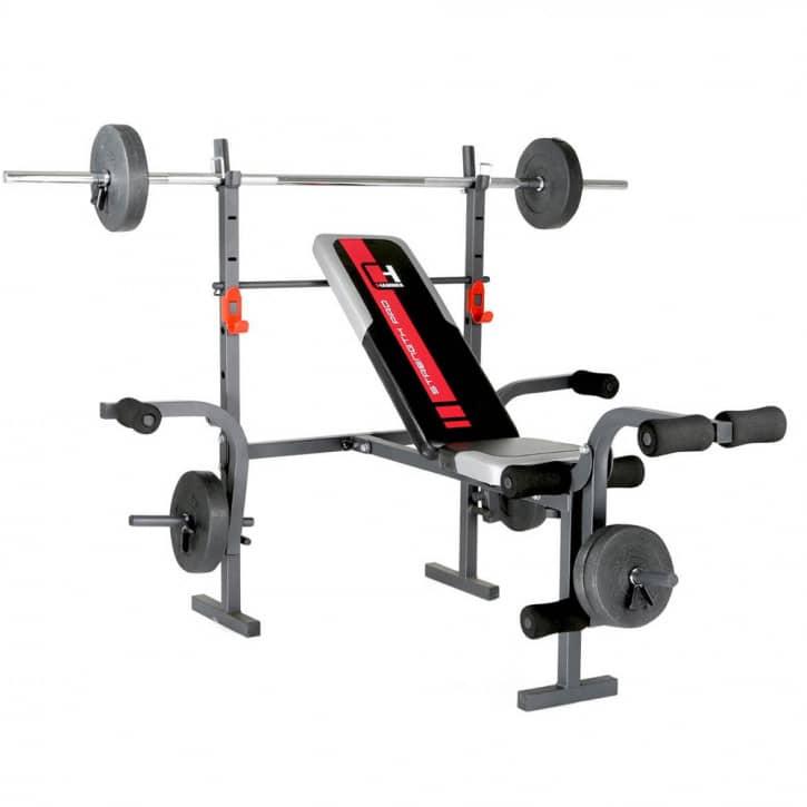 hammer-hantelbank-bermuda-inkl-25-kg-gewichte