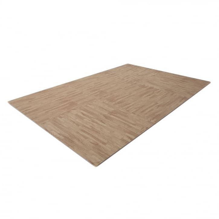 : Finnlo  Bodenschutzmatte Puzzlematte 185 x 120 cm Buche