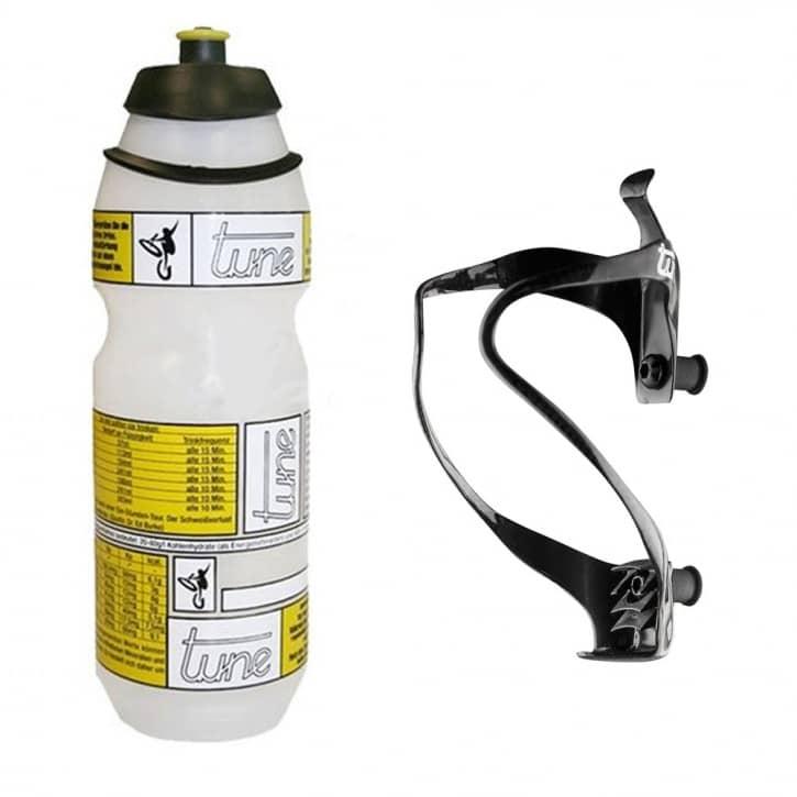 Fahrradteile/Trinkflaschen: Tune  Flaschenhalter Uni + Flasche