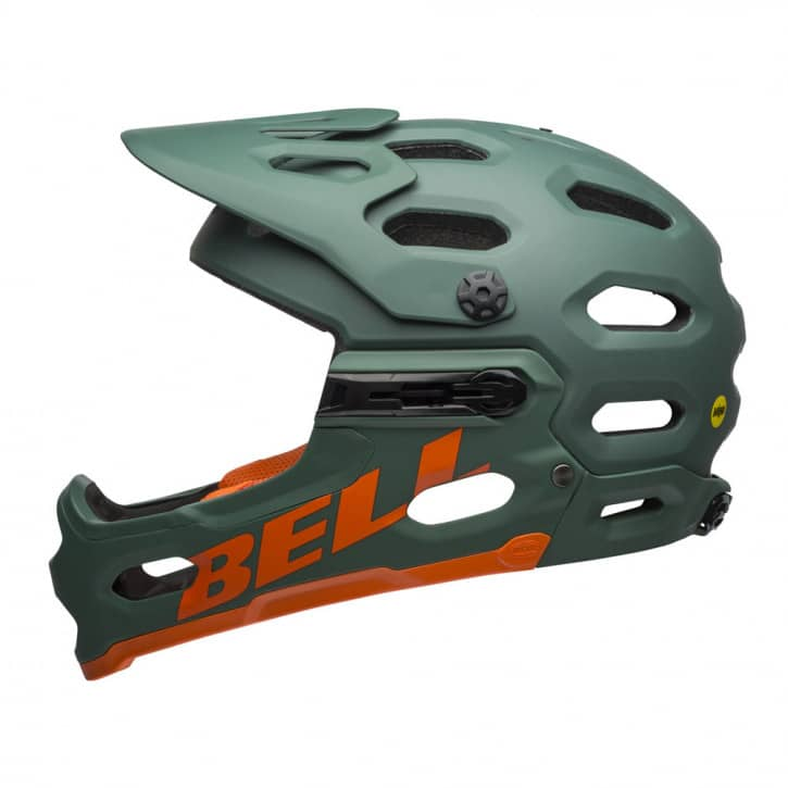 bell-helm-super-3r-mips-mat-dark-green-orange-l