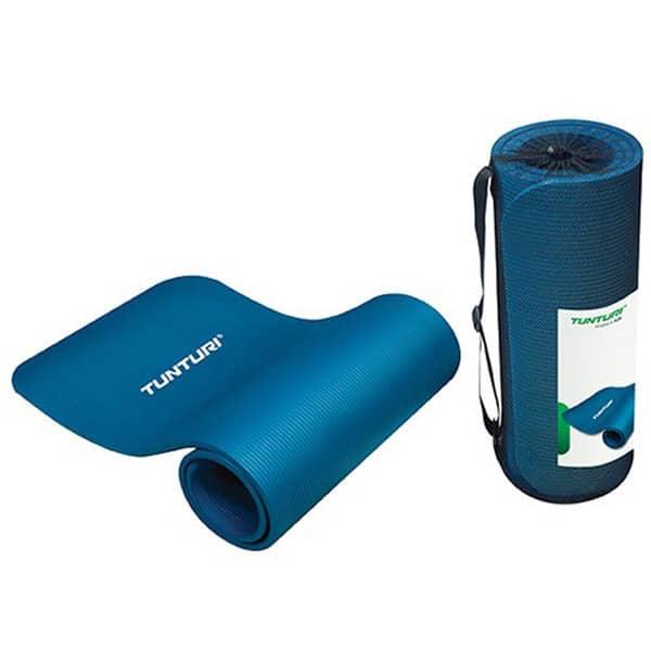 tunturi-fitnessmatte-mit-tasche-blau