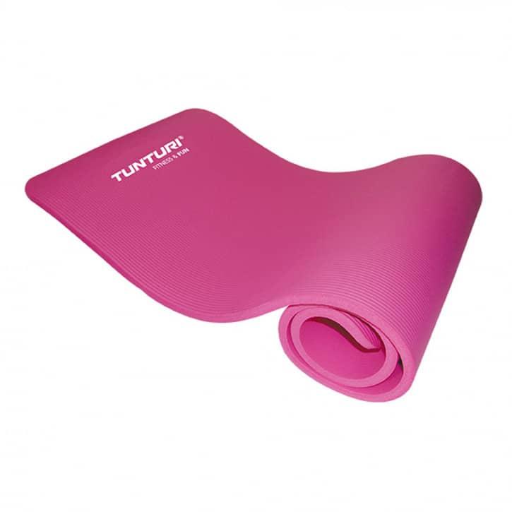 tunturi-fitnessmatte-mit-tasche-pink