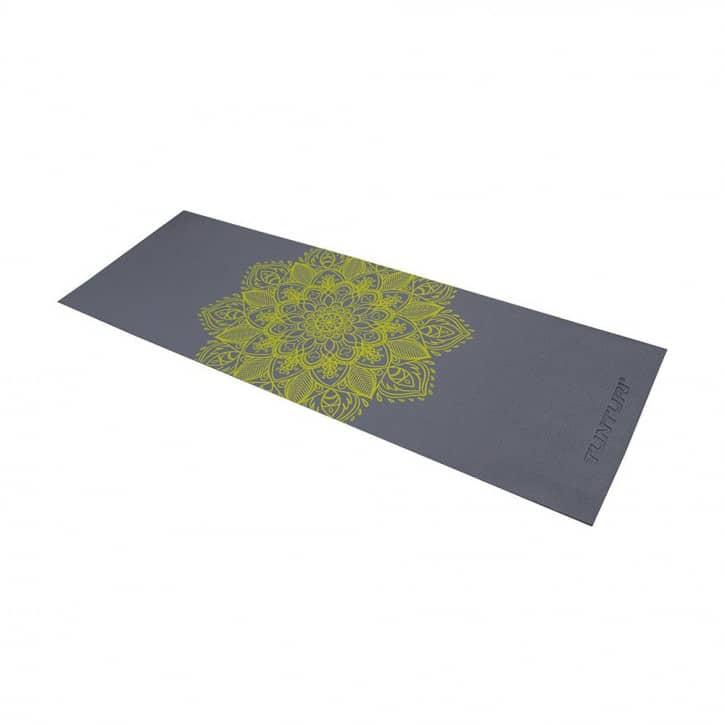 tunturi-yogamatte-pvc-anthrazit-mit-aufdruck