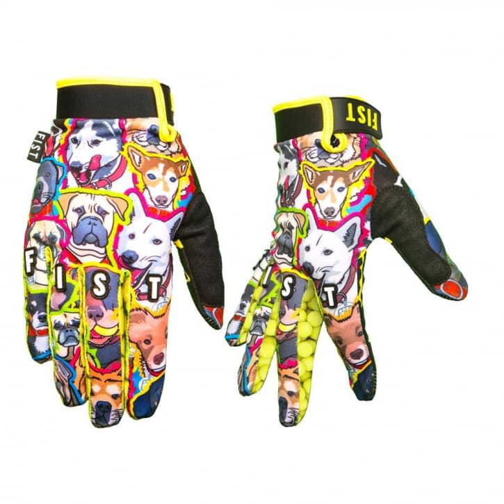 Bekleidung/Handschuhe: Fist Handwear Fist Handschuhe Whats up Dawg gelb- XXS