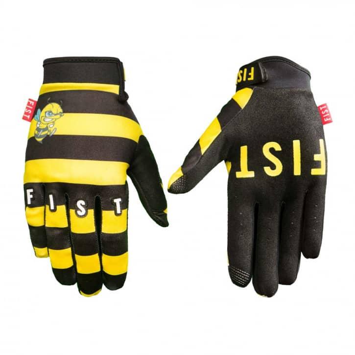 fist-handschuhe-killerbiene-gelb-schwarz-xxs