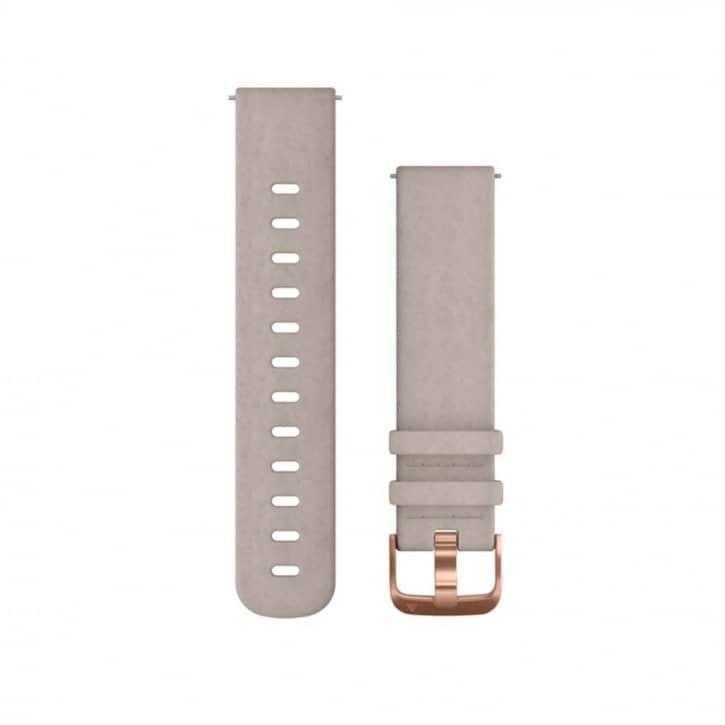 : Garmin  Schnellwechsel-Armband Leder Grau
