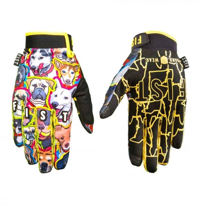 Bekleidung/Handschuhe: Fist Handwear Fist Handschuhe Whats up Dawg gelb-
