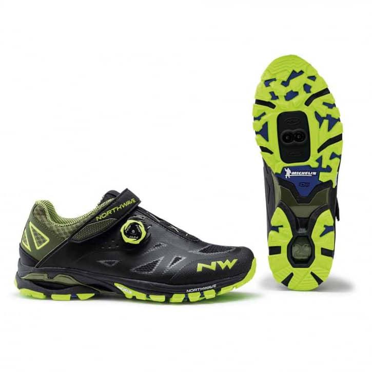 /Schuhe: Northwave Srl Northwave Spider Plus 2 Blackyellow fluo EUR 37