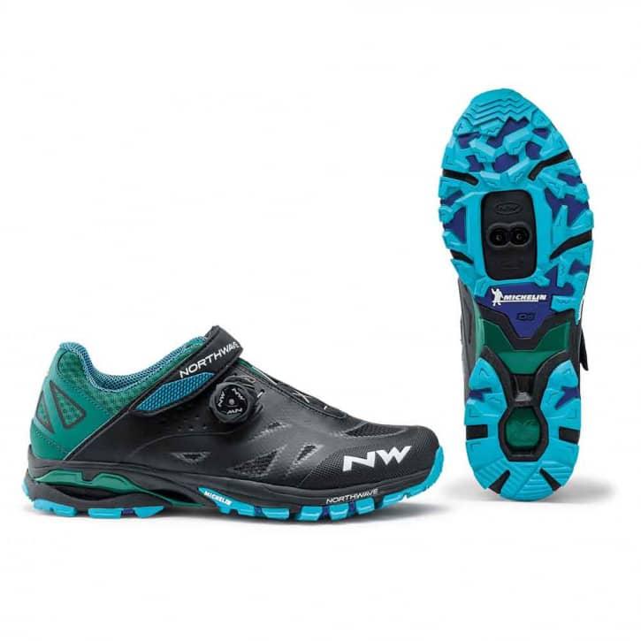 /Schuhe: Northwave Srl Northwave Spider Plus 2 BlackBlue