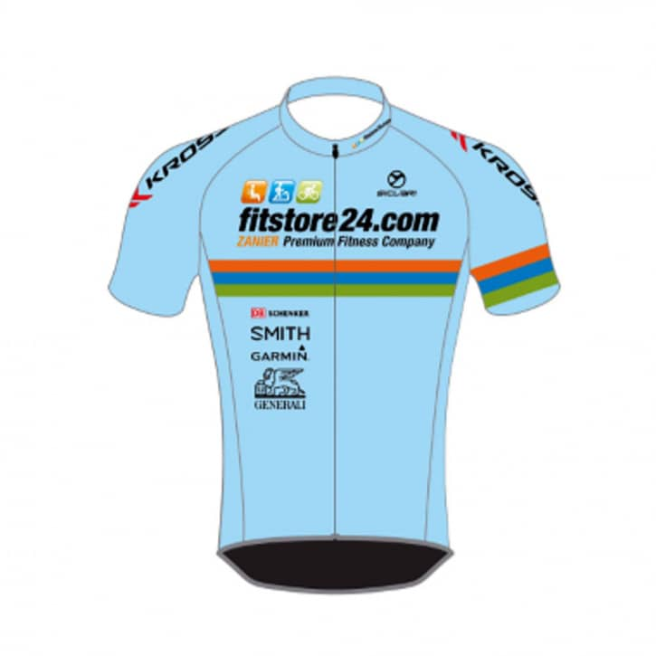 Bekleidung: Sicleri Fitstore24 Teamtrikot kurz azzurro