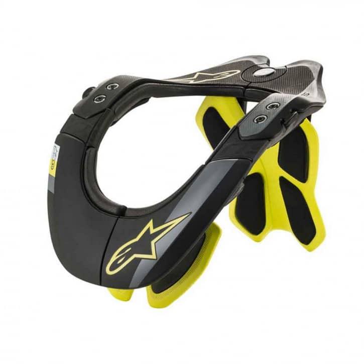: Alpinestars  BNC Tech 2 Neck Support Black Yellow Fluo Aussteller L-XL